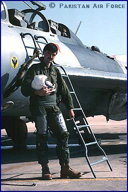 After a flight in Pakistan Air Force Shenyang F-6